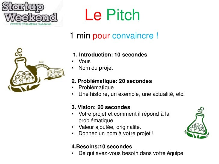 How To Pitch For A Startupweekend In French 1st