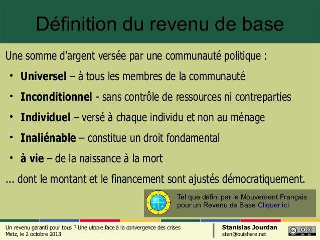Le revenu de base : une utopie face à la convergence des crises Slide 2