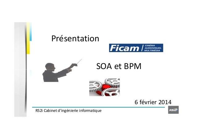 Présentation SOA et BPM  6 février 2014 RS2i Cabinet d'ingénierie informatique