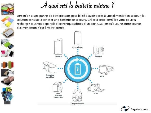 Sagntech.com A quoi sert la batterie externe ? Lorsqu'onaunepannedeba/eriesanspossibilitéd'avoiraccèsàunealim...