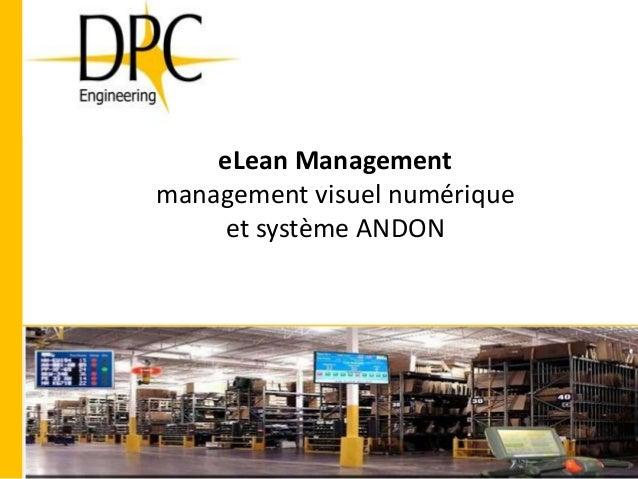 eLean Management management visuel numérique et système ANDON