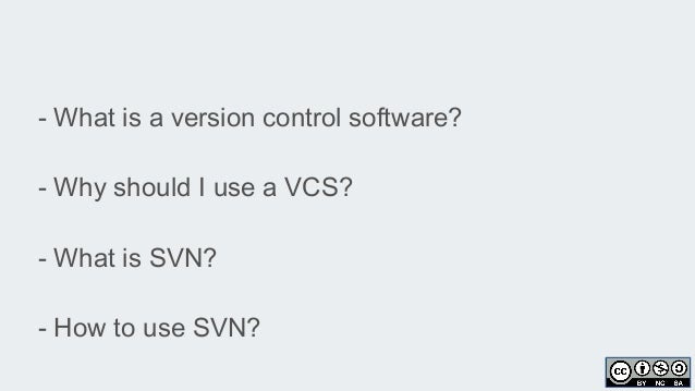 SVN essentials