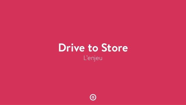 L'enjeu Drive to Store