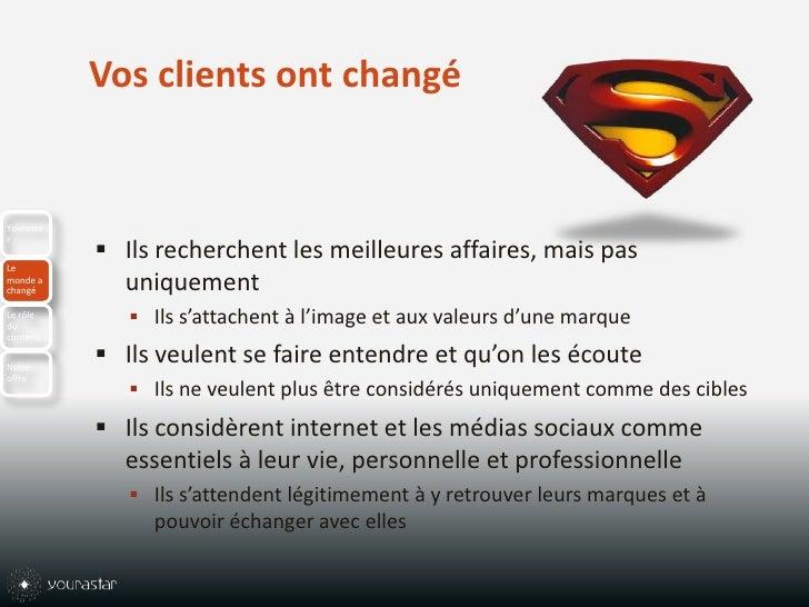 Vos clients ont changé<br />Ils recherchent les meilleures affaires, mais pas uniquement <br />Ils s'attachent à l'image e...