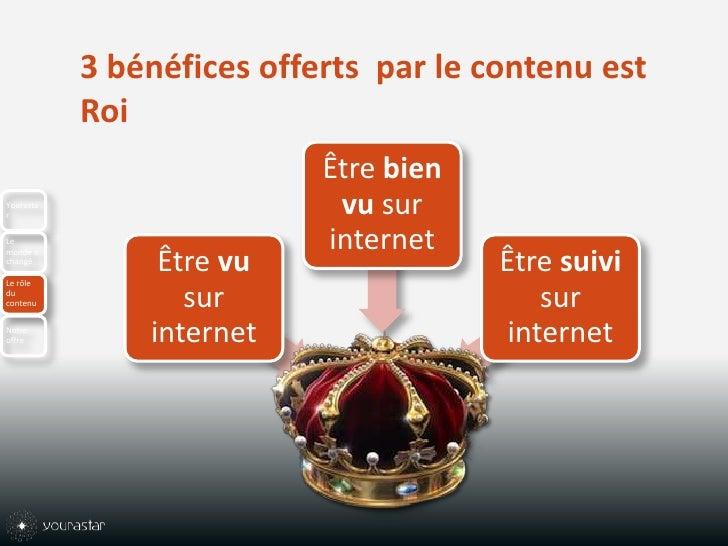3 bénéfices offerts  par le contenu est Roi<br />