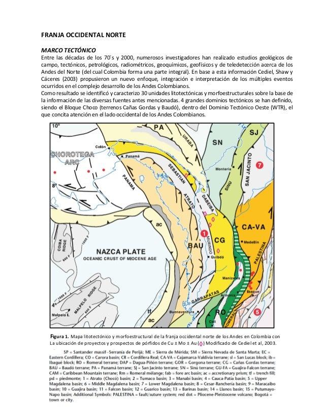 Depósitos de Pórfidos en Colombia_Sector Norte Cordilleras Occidental…
