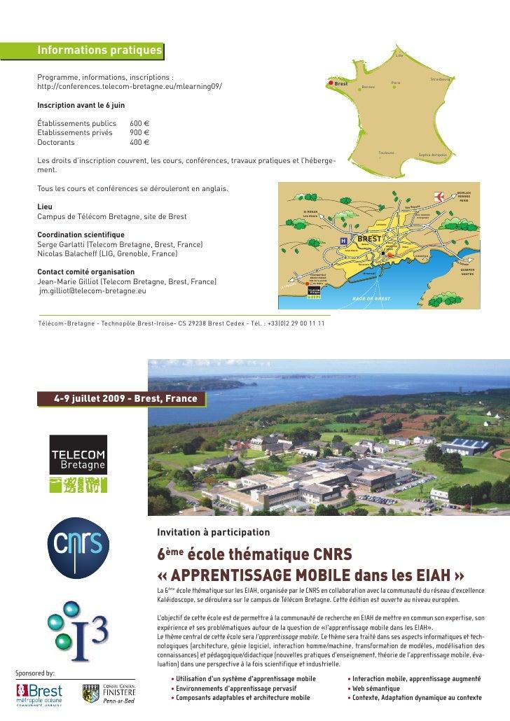4-9 juillet 2009 - Brest, France                                       Invitation à participation                         ...