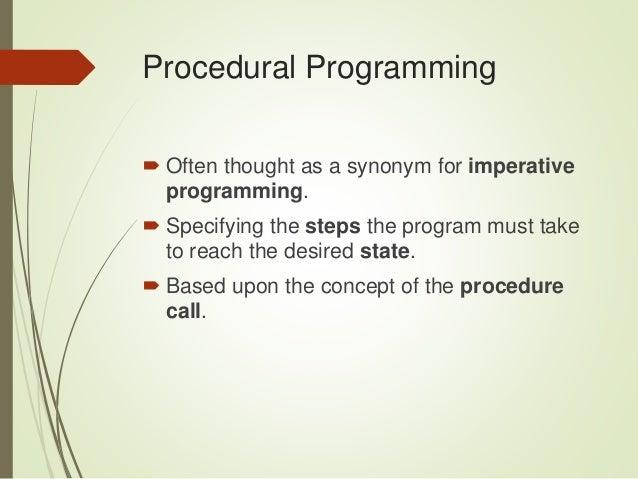 what is imperative paradigm
