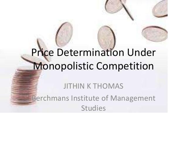 price determination under monopolistic competition