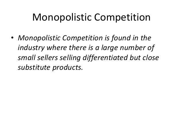 under monopolistic competition