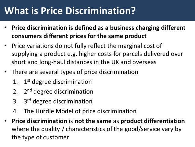 price discrimination versus price differentiation Price discrimination & competition: implications for antitrust monopoly vs oligopoly price discrimination differentiation.