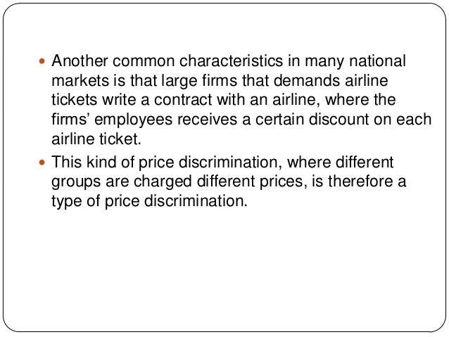 price discrimination in airline industry 1 charging customers di erent prices for the same product (airline tickets) 2nd-degree price discrimination 4 solution to airline pricing example charge p.