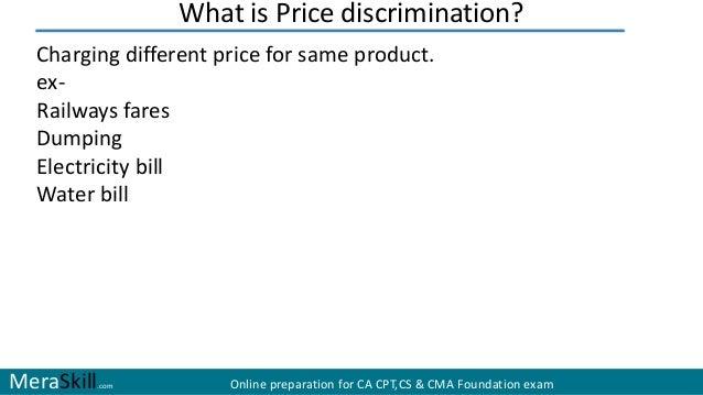 price discrimination under monopoly