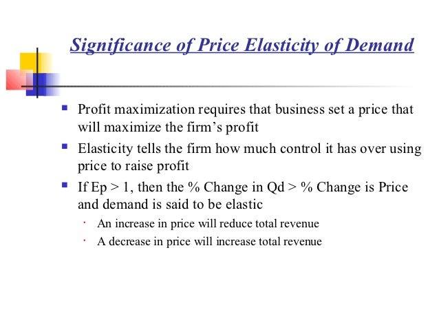 importance of price elasticity