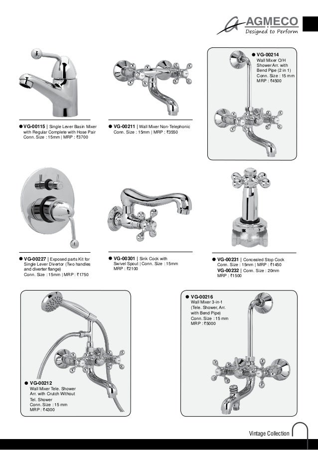 Faucets Price List 2014
