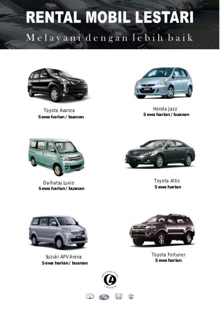 Harga Sewa Mobil Jakarta