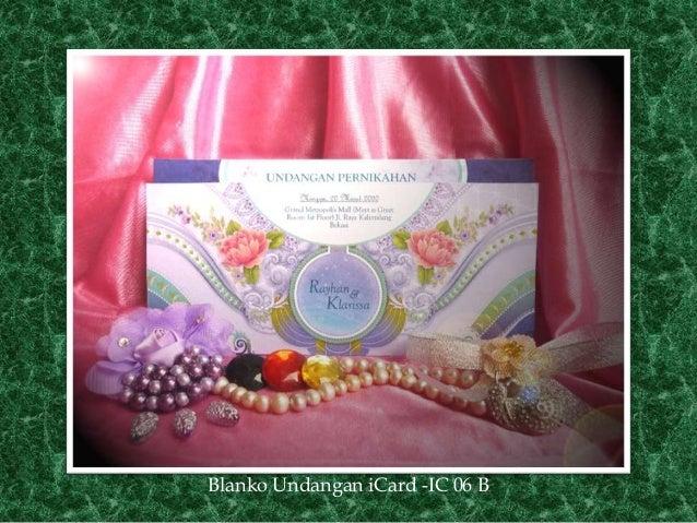Price Of Wedding Invitations: Price List Undangan Pernikahan ICard Wedding Invitation Blanko