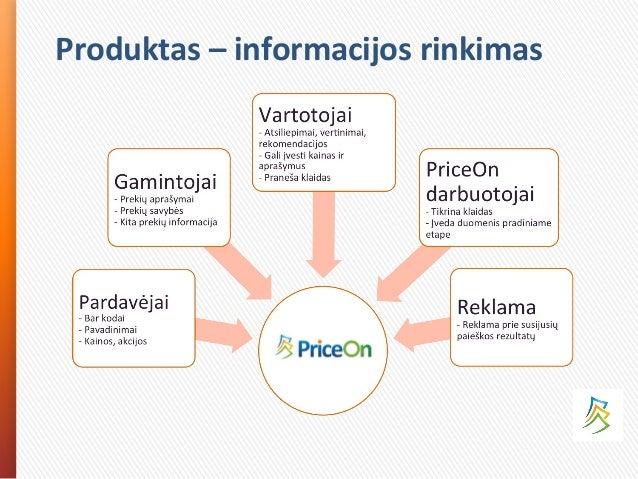 Produktas – informacijos rinkimas