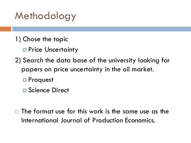 the macroeconomic uncertainty in the oil Uncertainty shock and oil price shock have immediate positive effects that do not last long on output in nigeria similarly, inflation uncertainty shocks have positive effect on inflation but negative response and correlation with exchange rate and oil price uncertainties, respectively finally, macroeconomic uncertainty.