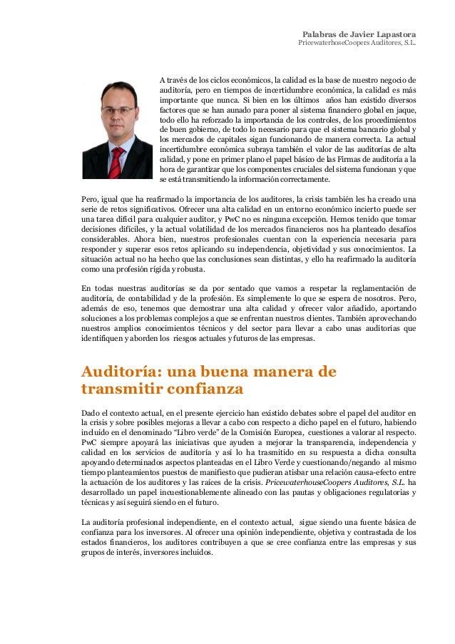 Socios - Pricewaterhousecoopers informe transparencia2011 v2 Slide 3