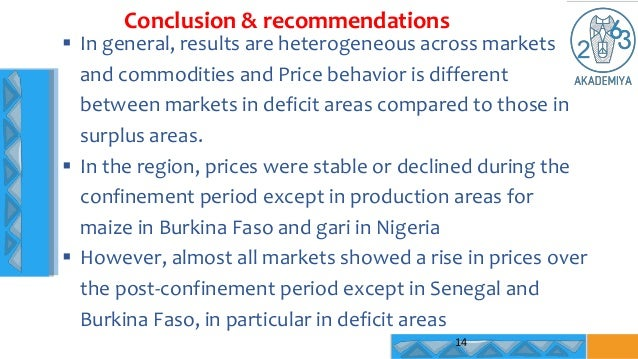  In general, results are heterogeneous across markets and commodities and Price behavior is different between markets in ...