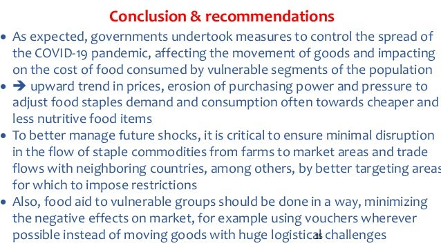Conclusion & recommendations  As expected, governments undertook measures to control the spread of the COVID-19 pandemic,...