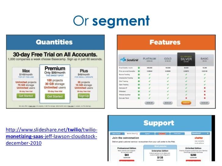 Or segmenthttp://www.slideshare.net/twilio/twilio-monetizing-saas-jeff-lawson-cloudstock-december-2010