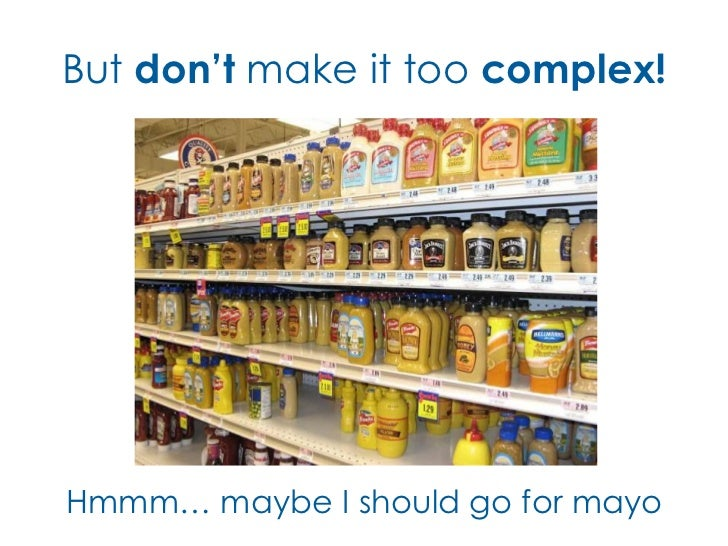 But don't make it too complex!Hmmm… maybe I should go for mayo