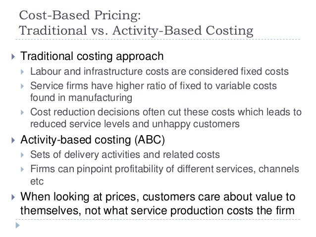 Traditional Costing Vs. Activity-Based Costing
