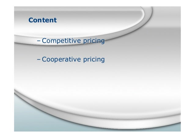 competitive pricing in business market Slide 3
