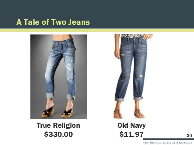 A Tale of Two Jeans     True Religion    Old Navy       $330.00        $11.97                                             ...