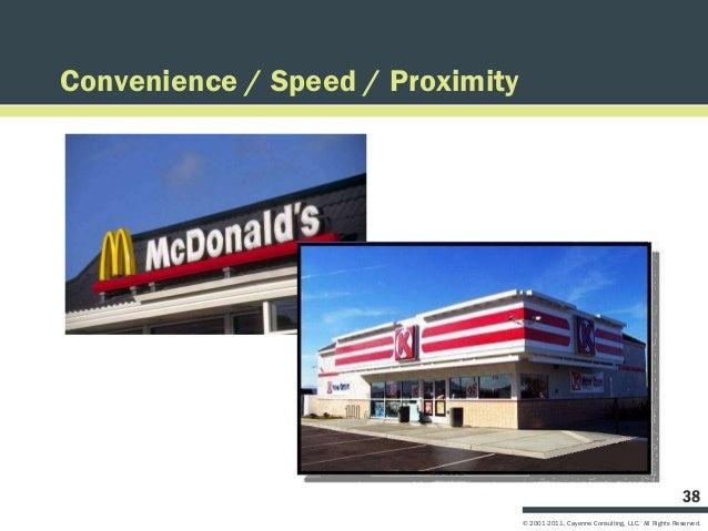Convenience / Speed / Proximity                                                                                      38   ...