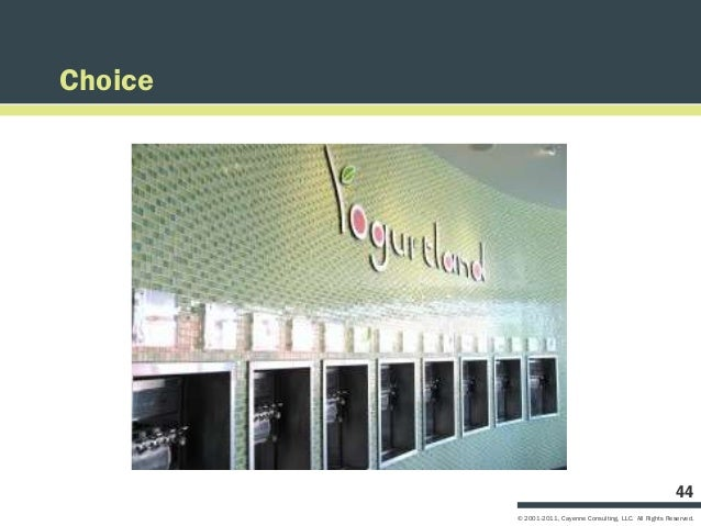 Choice                                                             44         © 2001-2011, Cayenne Consulting, LLC. All Ri...