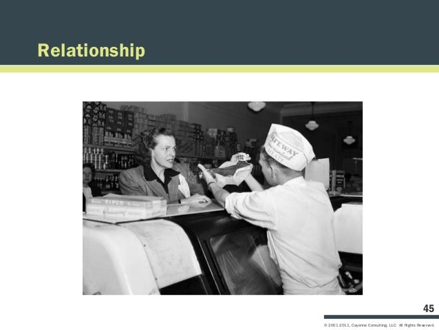 Relationship                                                                   45               © 2001-2011, Cayenne Consu...
