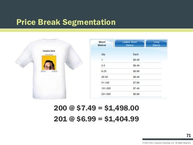 Price Break Segmentation         200 @ $7.49 = $1,498.00         201 @ $6.99 = $1,404.99                                  ...