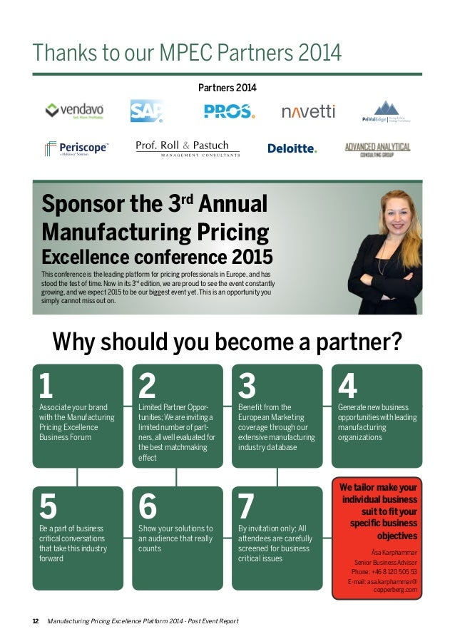 Manufacturing Pricing Excellence 2014 post event report