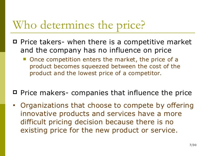 pricing decisions definition