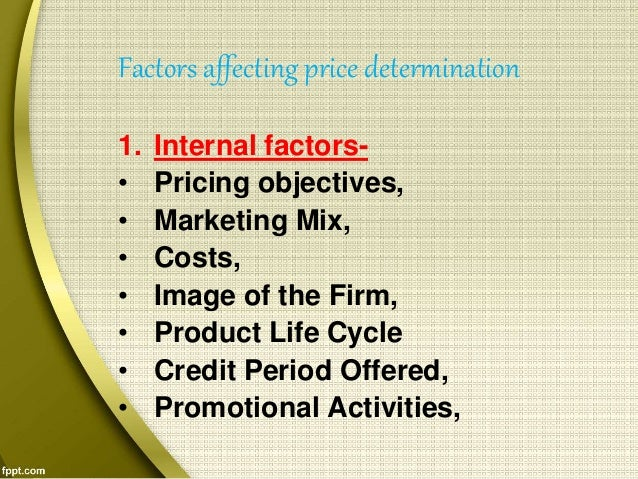 factors affecting price determination
