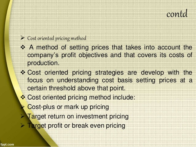 pricing decision Start studying chapter 11 learn  tom is working on a pricing strategy for his  when a small business owner doesn't want to make a pricing decision,.