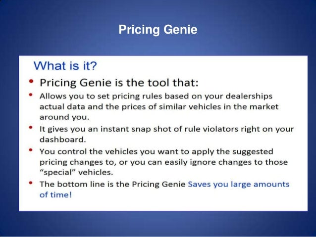 Pricing Genie