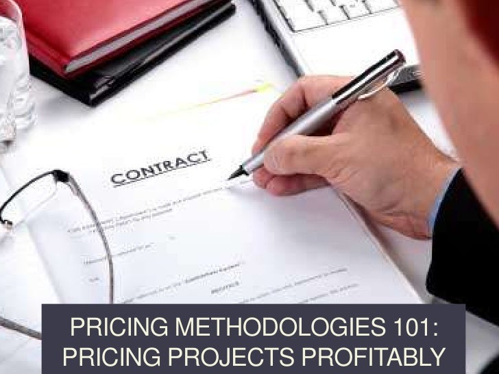 Pricing Methodologies 101: Pricing projects profitably<br />PeopleProcessandProfit.com <br />© 2010 Barry Goldberg<br />