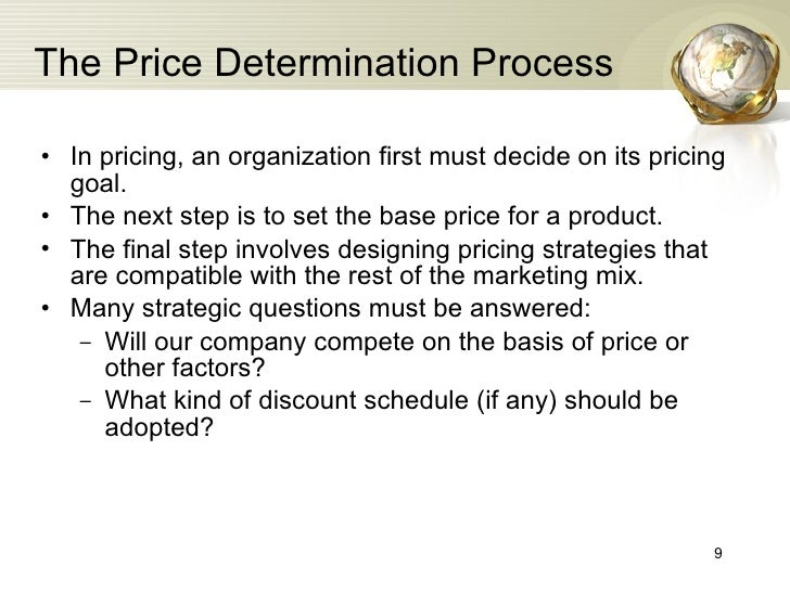 process of price determination