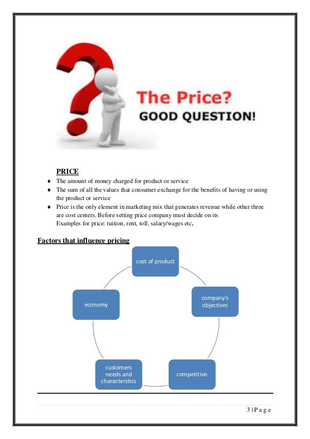 conclusion on product mix pricing Marketing mix: product, price, place, promotion – essay sample marketing decisions made by a company when shaping a suitable proposition for the potential customer can be organized into four.