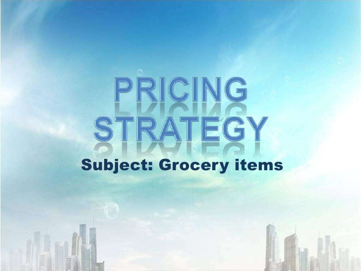 Subject: Grocery items