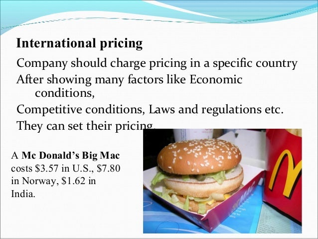international pricing examples