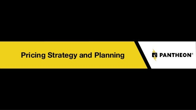 Pricing Strategy and Planning