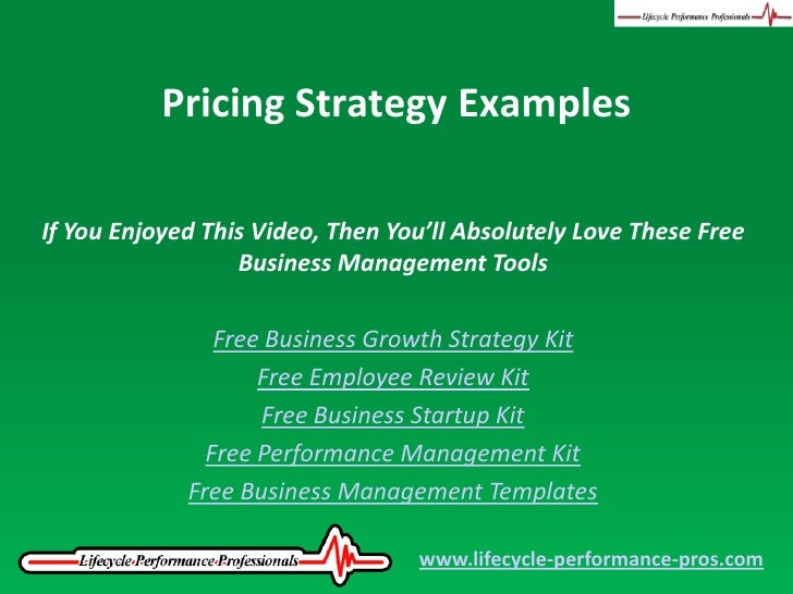 Video: Pricing Strategy Examples