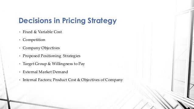 Value-based pricing strategy (powerpoint).