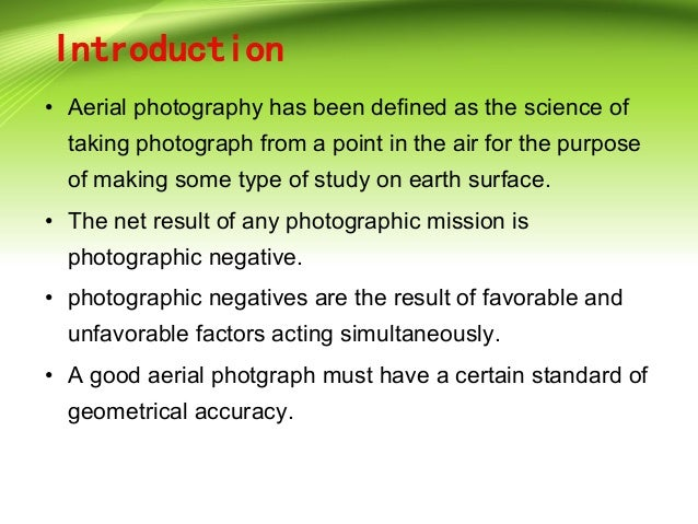 Principle Of Aerial Photography And Types Ppt