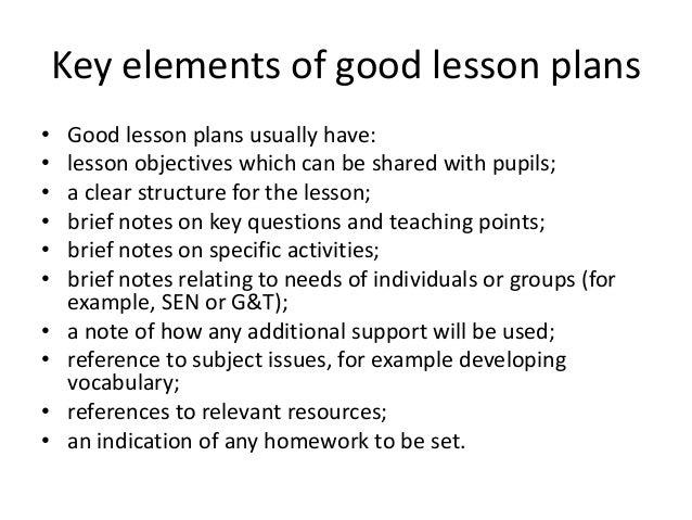 Priciples Of Good Lesson Design